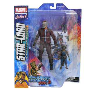 Marvel Select Guardians of the Galaxy 2 Star Lord, Mint On Card