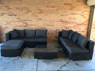 4 Piece Outdoor Modular Lounge