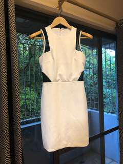 White Dress with mesh details