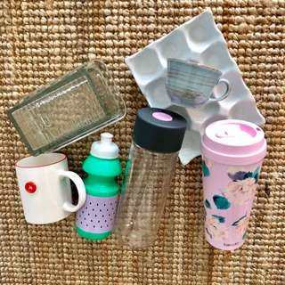 Water bottles / egg holder / butter tray