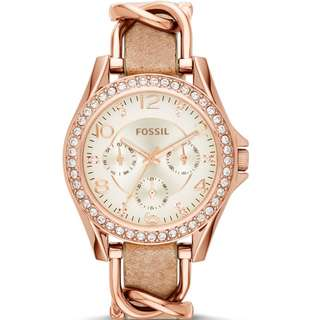 LADIES FOSSIL original RILEY WATCH ES3466