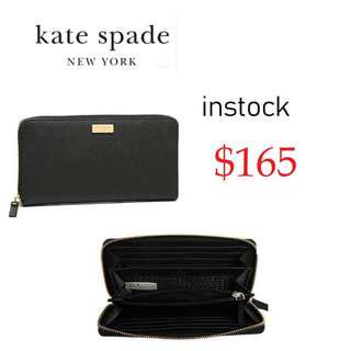f91100a5303dc READY STOCK authentic new Kate Spade New York Laurel Way Neda Saffiano  Leather Zip Around Wallet