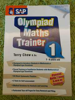 Olympiad Maths Trainer SAP Level 1 Age 6-8 years old P1-P3 如全新 購自大衆原價$80 Olympic Maths 奧數 奥 平過書展價 免費送贈品 with free gift