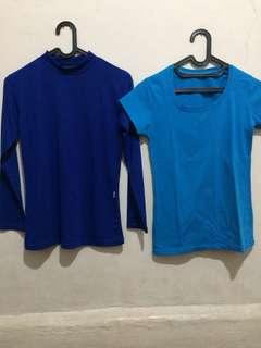 manset & t-shirt biru