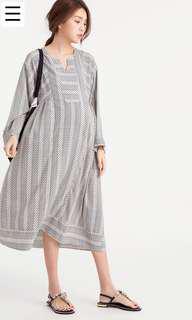 🚚 全新Gochui 圖騰連身裙(產前、產後)孕婦洋裝
