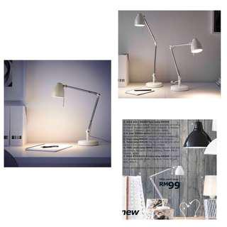 Ikea (New In Box) Tral Work Lamp, White (64cm)