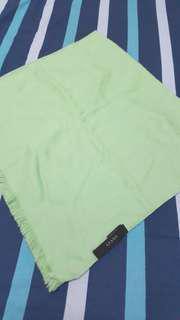 🚚 正品Gucci果綠色品牌logo羊毛圍巾