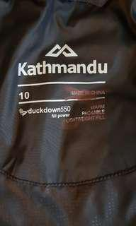 Kathmandu 550 duck down jacket 10 as new condition