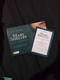 Admit 2 for Mary Shelley