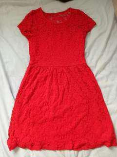 📦+Padini Red lace dress
