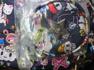 🌟BNIP Dreamworld Jujube Tokidoki Hello Kitty Pacipod and Coin purse / pouch and Be Neat bib. Trades possible for Hello Sanrio Sweets