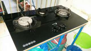 3 burner gas glass stove / cooker