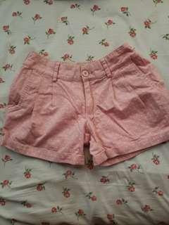 粉紅波點短褲