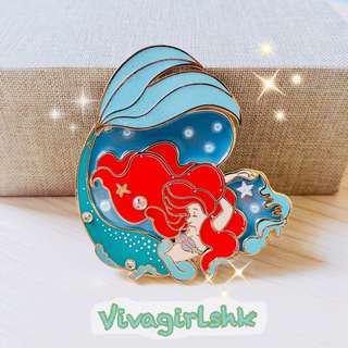 迪士尼 美人魚 粉絲徽章 Fantasy Pin LE75