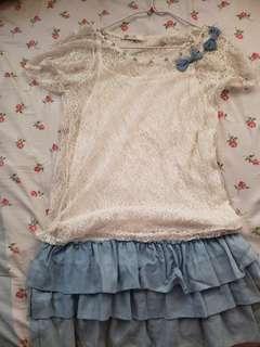 優雅連身裙或上衣兩件套