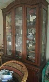 Dijual murah lemari kayu mahoni cantik mewahh tapi MURAH