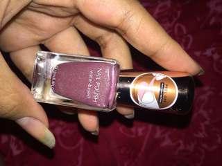 Kutek peel off glitter ungu