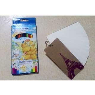 Binder Ring Easy Flip White Note + free Pencil warna Kenko