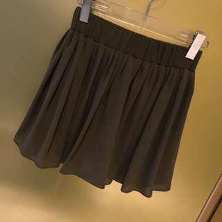 🚚 正韓 雪紡軍綠短褲裙