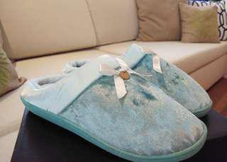 New! Pastel blue comfy bedroom slippers