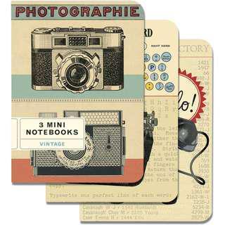 Cavallini Notebook Vintage Mini Journals