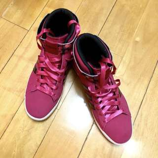 Adidas Neo dark pink shoes 桃紅色😍