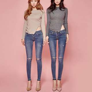 Chuu -5kg Jeans Ripped knees 24