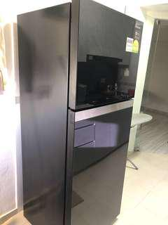 Samsung RT-38FAUCDGL 2 Doors Refrigerator Fridge (Black Glass)