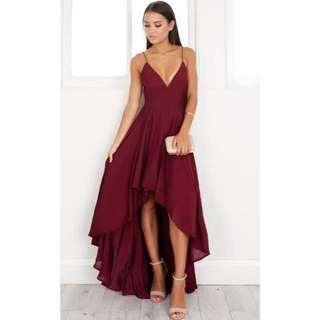 Wine Burgundy Formal Dress // Paper Kites Label