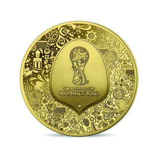 Fifa World Cup Russis gold coin 2018