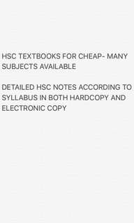 HSC TEXTBOOKS AND NOTES
