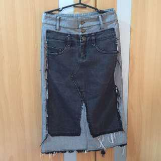 Korean style denim skirt