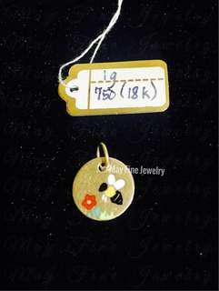 Genuine Italian Yellow Gold 18k Pendant for Sale!