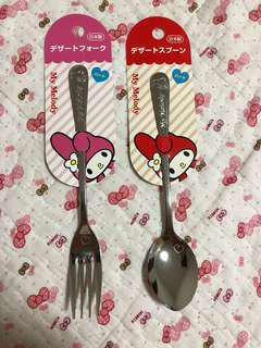 My Melody Spoon and fork