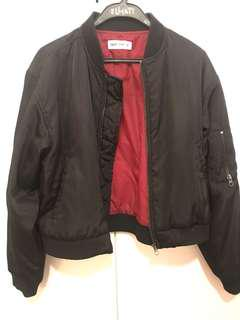 Tigermist Black Bomber Jacket Size S