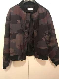 Tigermist Camo Bomber Jacket Size XS