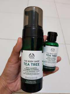 Preloved The Body Shop Tea Tree Skin Clearing Foaming Cleanser dan Toner