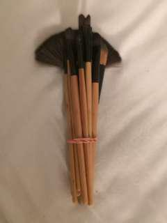 Makeup brush set x10