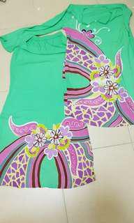 Baju kurung batik cotton