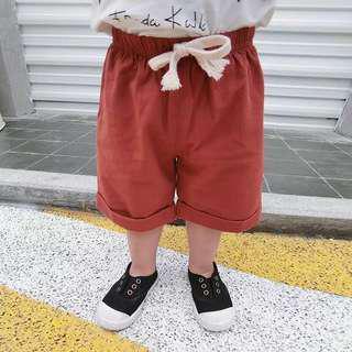 韓版童裝出清➰抽繩棉麻短褲 9/11/15