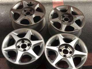 Lancer MX 2001 model OEM wheels by Weds