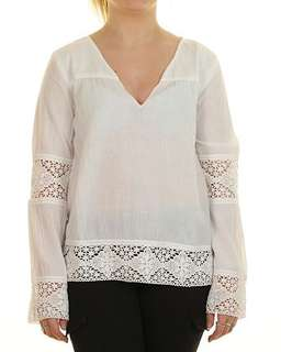 Billabong beach white long sleeved top