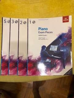 Piano Exam Pieces 2017-2018