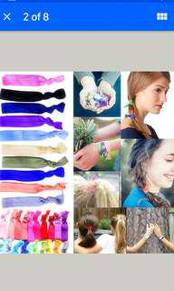 Free NM*4 Pcs Creaseless hair tie elastic rubber band*foc w/purchase>$8