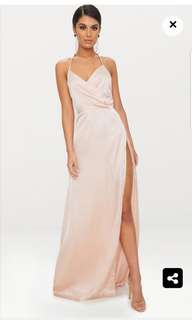 Champagne Silky Maxi Dress