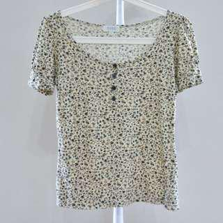 SEED Flowery blouse S size
