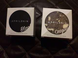 BNIB APRIL SKIN SIGNATURE SOAP ORIGINAL AND BLACK