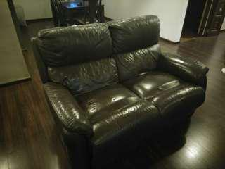Genuine leather recliner 2 seater sofa
