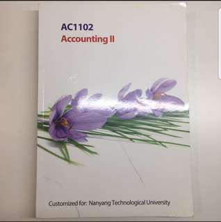 AC1102 Accounting II Customised Textbook