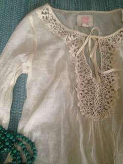 Women's boho floaty light weight gypsy hippy quicksilver top xs